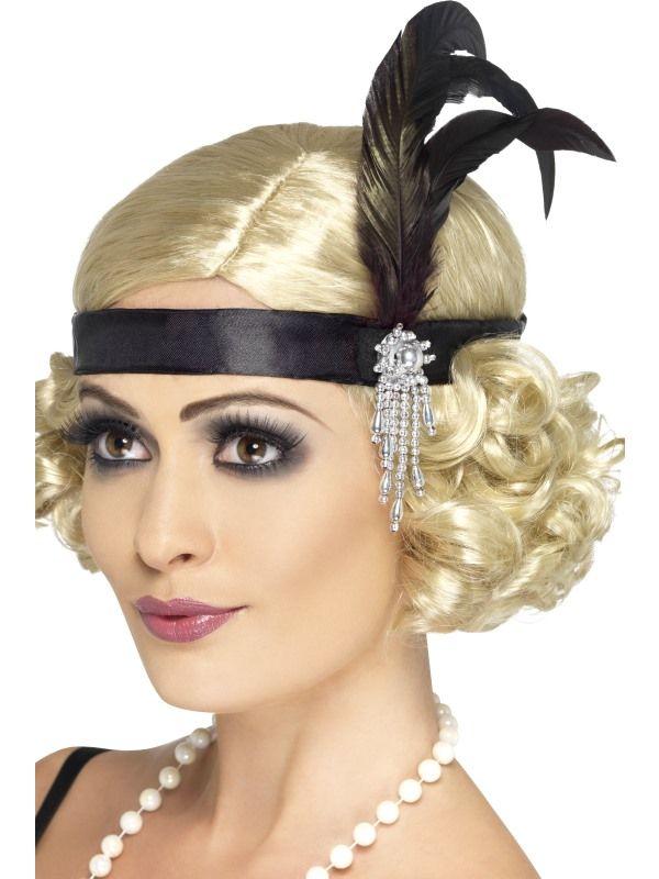 Čelenka charleston - černá (23-I) Smiffys.com