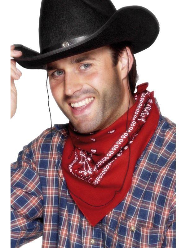 Šátek kovboj červený (78-G) Smiffys.com