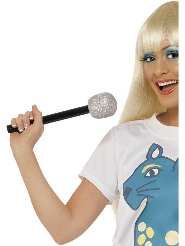 Mikrofon stříbrný (78-B) Smiffys.com