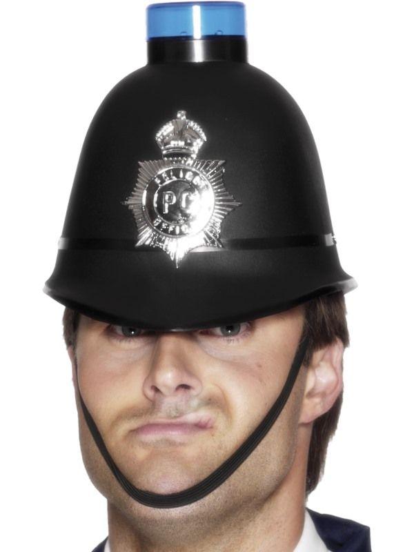 Helma policie s blikacím majákem (112-C) Smiffys.com