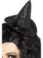 Klobouček mini černý čarodějnice (54)