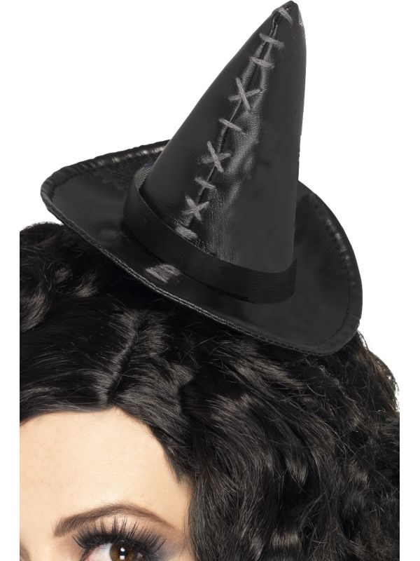 Klobouček mini černý čarodějnice (54) Smiffys.com