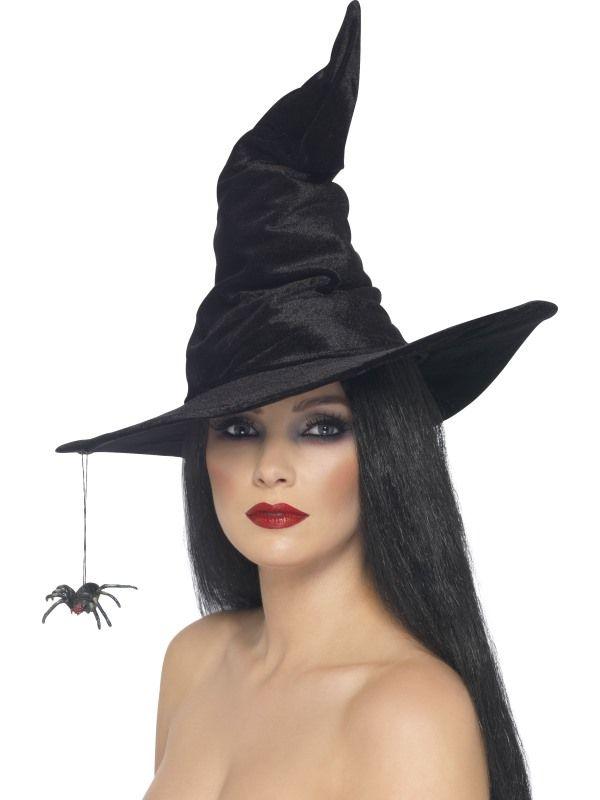 Klobouk čarodějnice s pavoukem (48) Smiffys.com