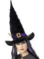 Klobouk - Čarodějnice - černý s větvičkou (123)