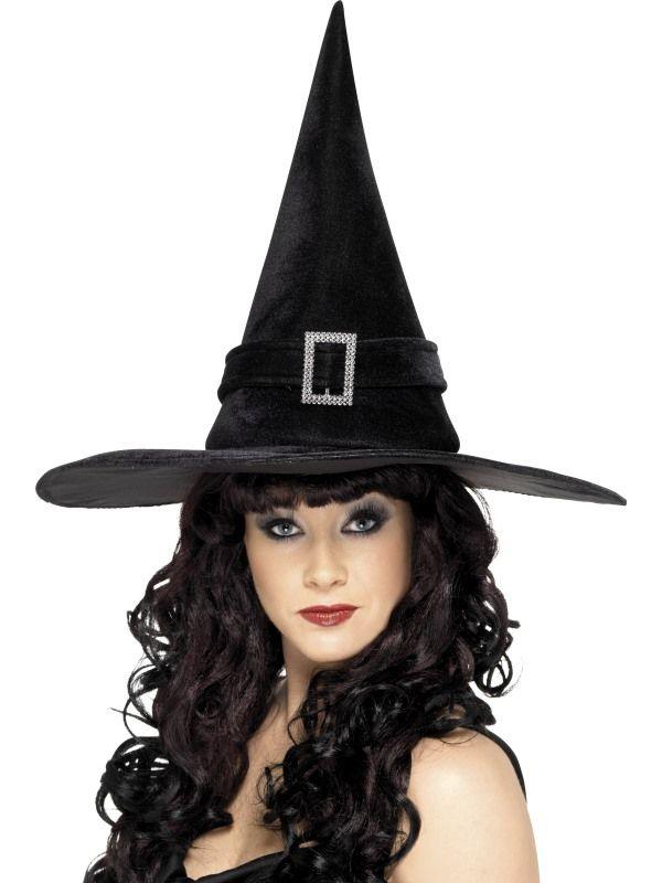 Klobouk čarodějnice se sponou (48) Smiffys.com