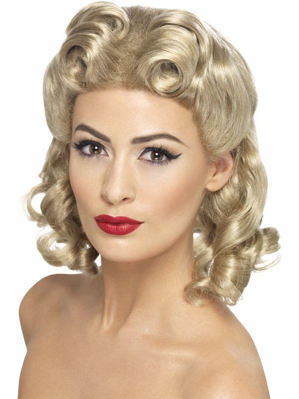Paruka blond 40 léta (4-G) Smiffys.com