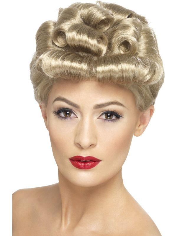 Paruka blond 40 léta (4-E) Smiffys.com