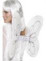 Křídla anděl 50cm x 30cm, bílo stříbrná (107)