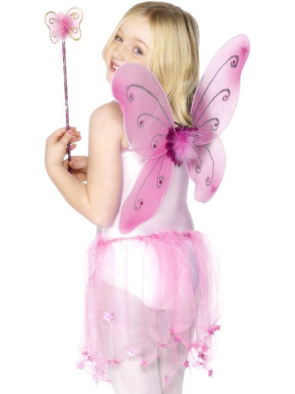 Křídla vílá růžová Smiffys.com