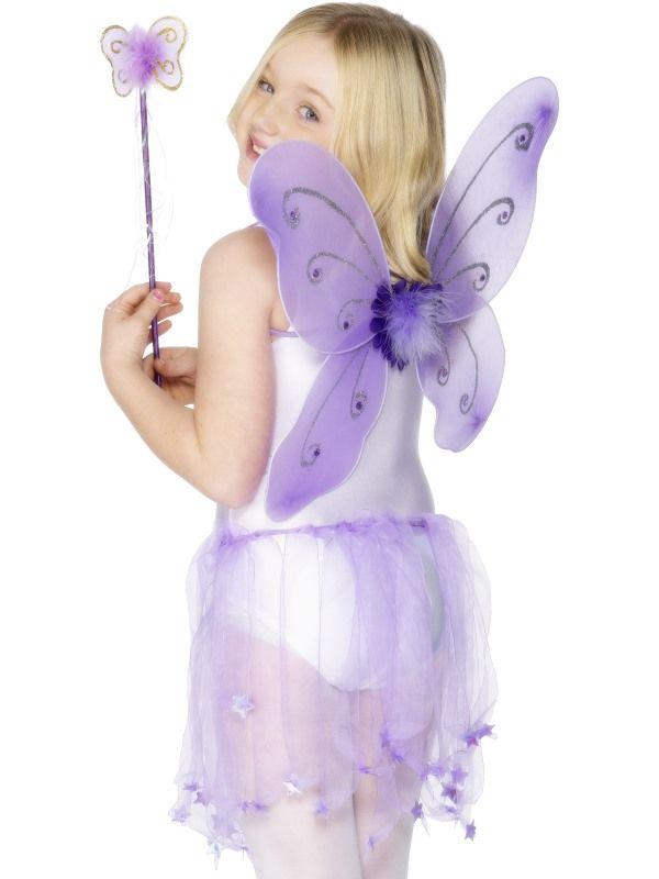 Křídla motýl + hůlka fialová (109) Smiffys.com