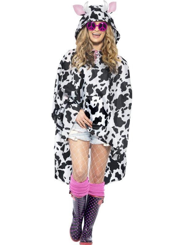 Pláštěnka - Kráva - Poncho Smiffys.com