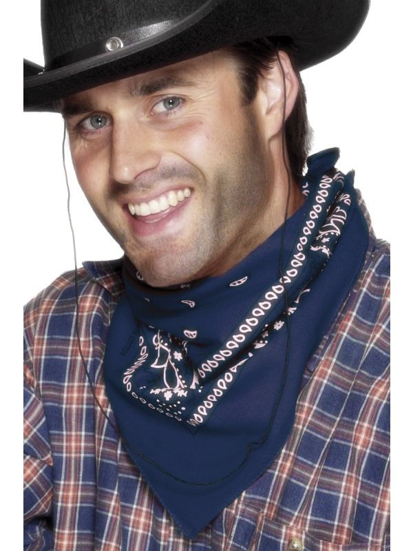 Šátek kovboj modrý (78-G) Smiffys.com
