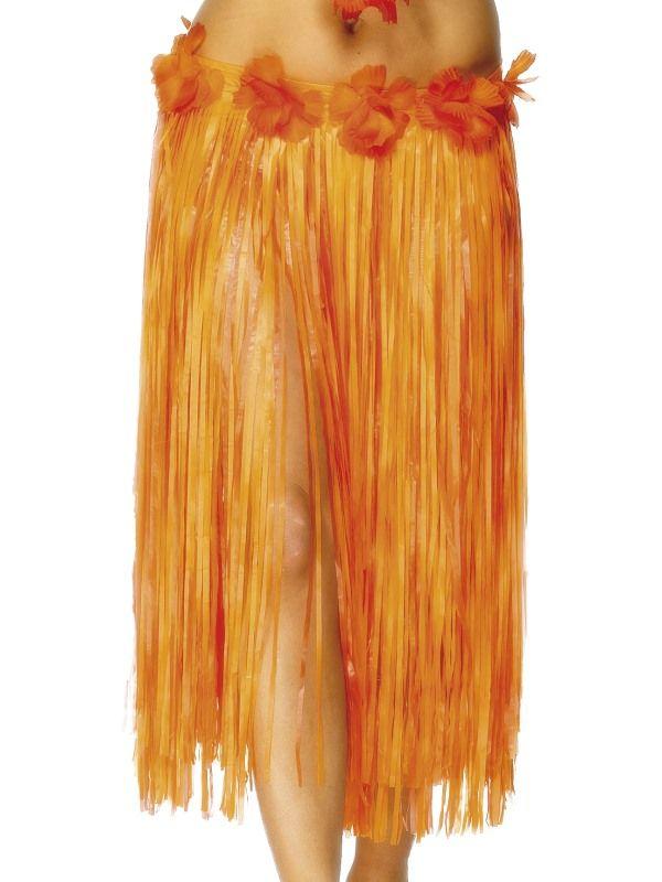 Havajská sukně - oranžová - 73 cm (18) Smiffys.com