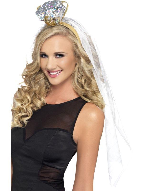 Závoj nevěsta s diamantem (22-D) Smiffys.com