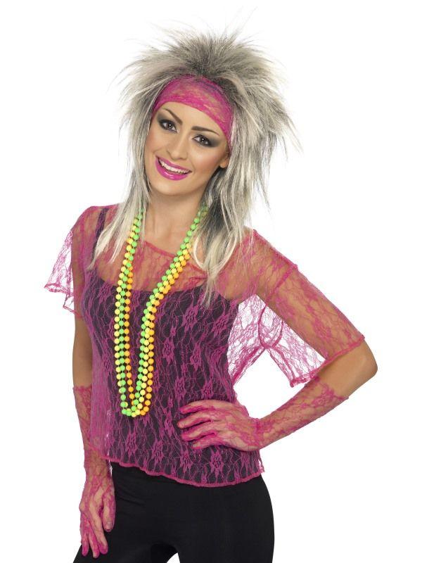 Tričko krajkované růžové Smiffys.com