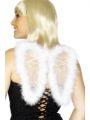 Křídla s chmýřím - bílá 25x20 cm  (107)