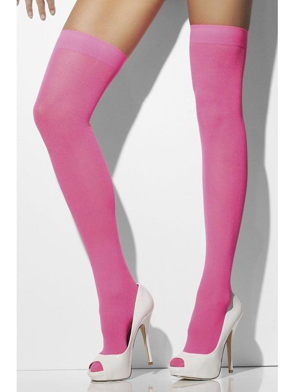 Punčochy neon růžové (32-D) Smiffys.com