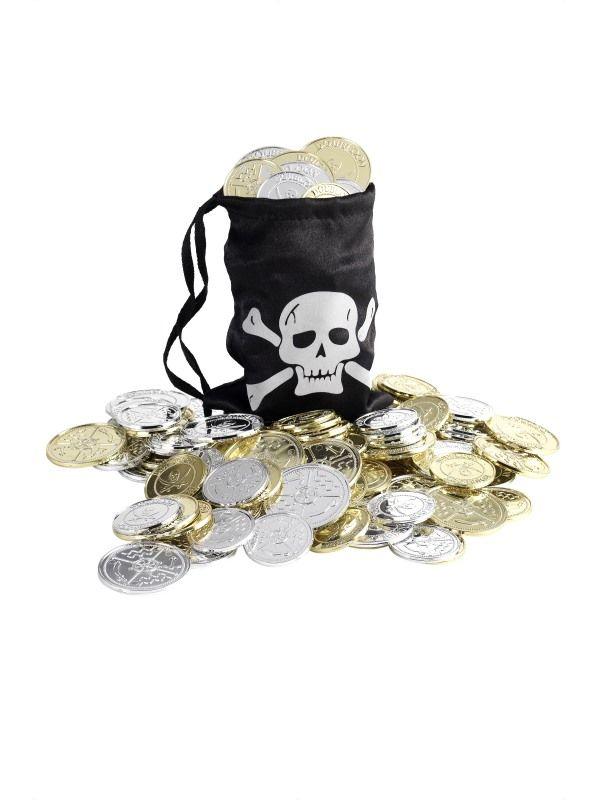 Měšec pirátský + dukáty (78-E) Smiffys.com