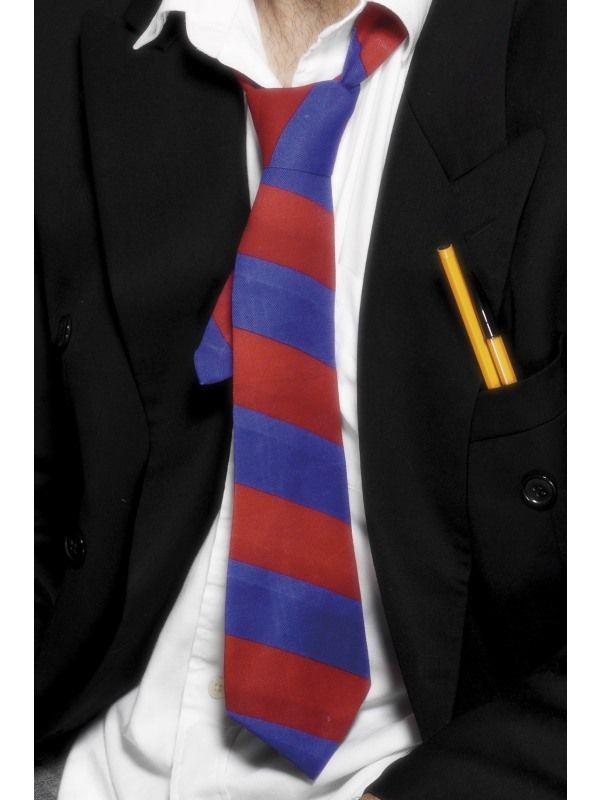 Kravata červeno-modrá (8-B) Smiffys.com