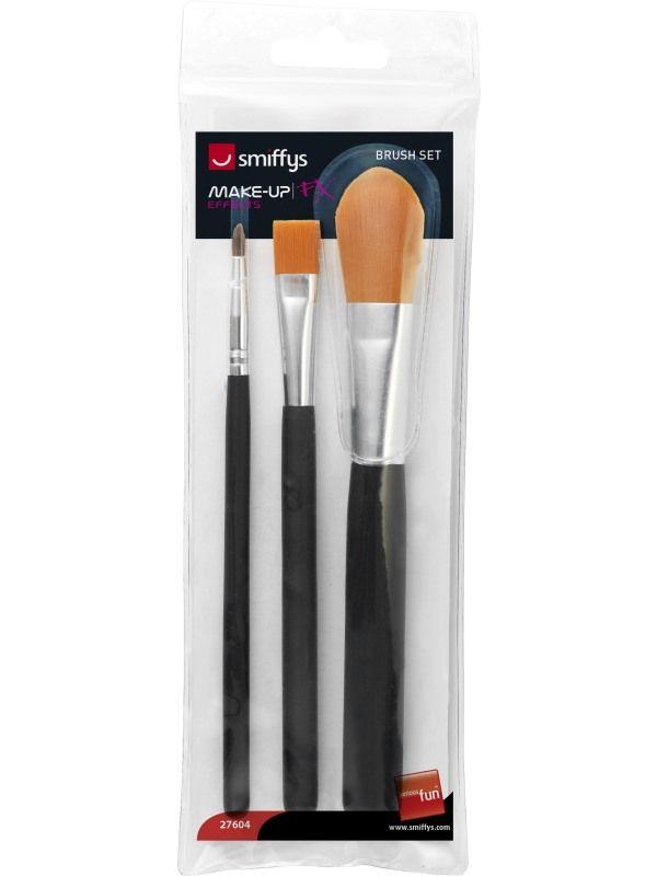 Štětce kosmetické 3ks (14) Smiffys.com