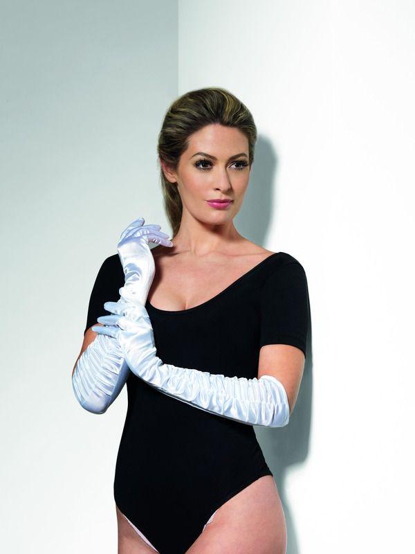 Rukavice bílé nařasené (35-B) Smiffys.com