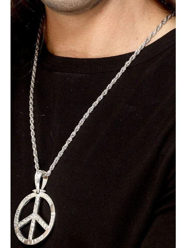 Náhrdelník - Medailon stříbrný 44cm (92) Smiffys.com