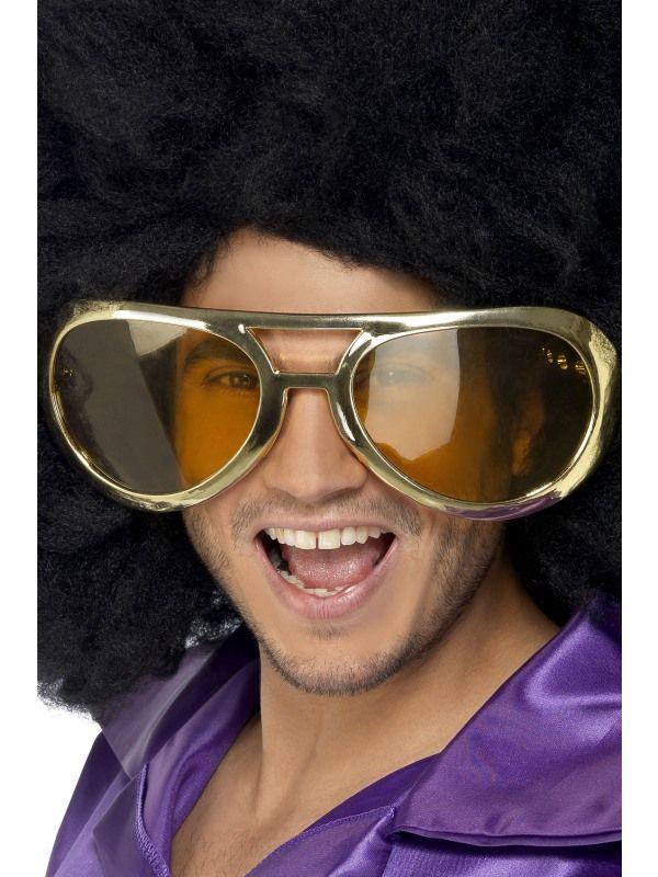 Brýle - obří zlaté (48B) Smiffys.com