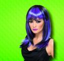 Paruka Glamour černofialová (3-E) Smiffys.com