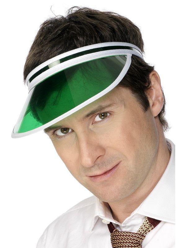Kšiltovka zelená retro, Poker Visor (115I) Smiffys.com
