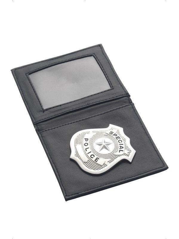 Peněženka s odznakem policie (79-J) Smiffys.com