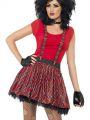 Sada punk-  sukně,kšandy,rukavice bez prstů (56)