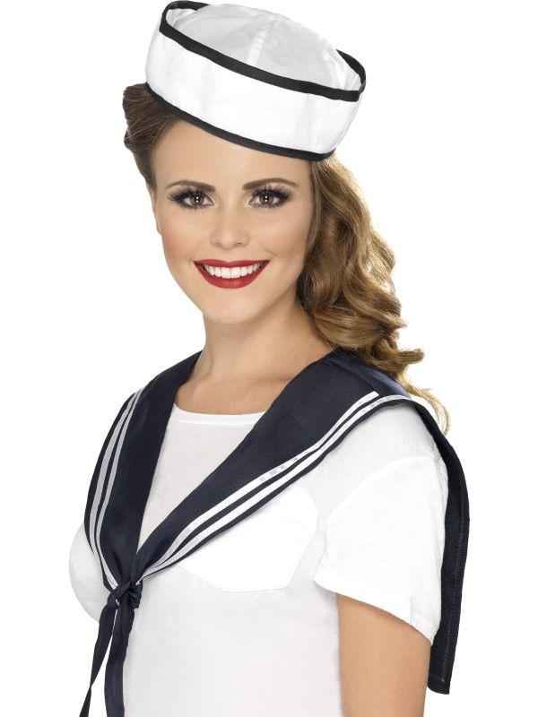Sada námořnice límec, čepka (7-D) Smiffys.com