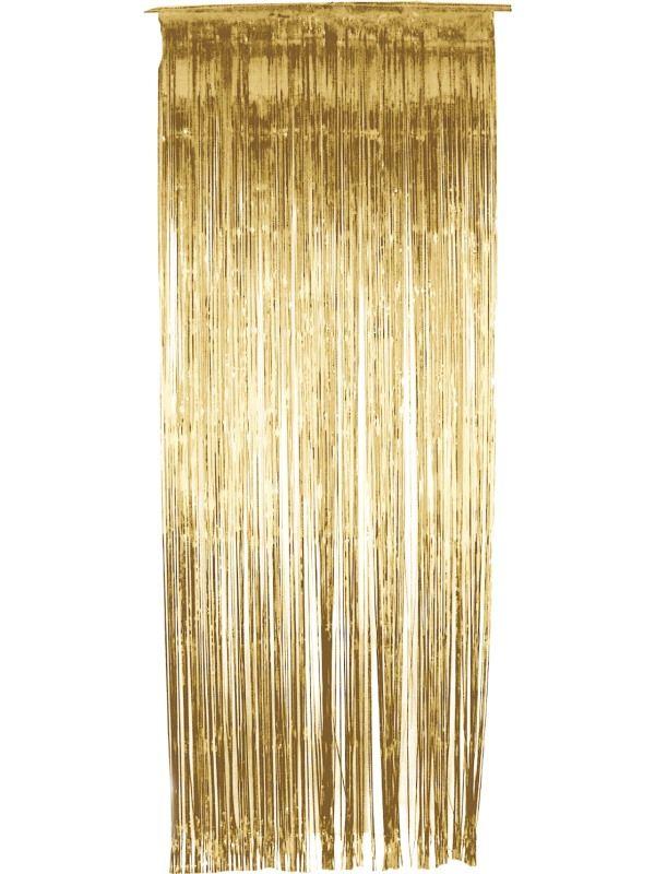Závěs - zlatý - 91 x 244 cm (8-B) Smiffys.com