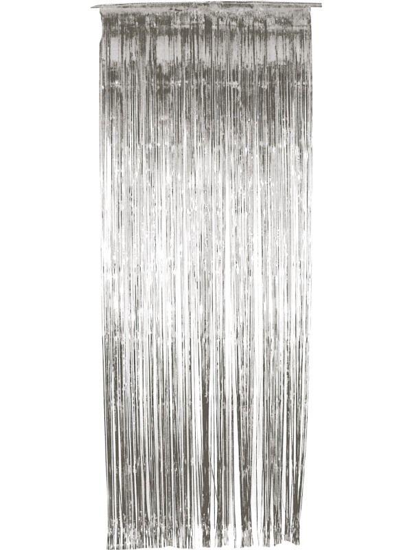 Závěs - stříbrný - 91 x 244 cm (8-B) Smiffys.com