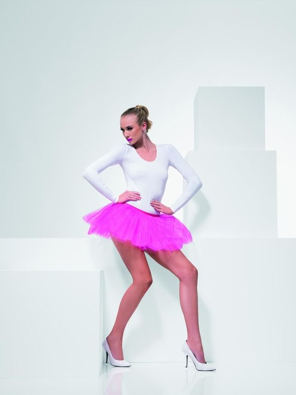 Spodnička - sukně neon růžová (55) Smiffys.com