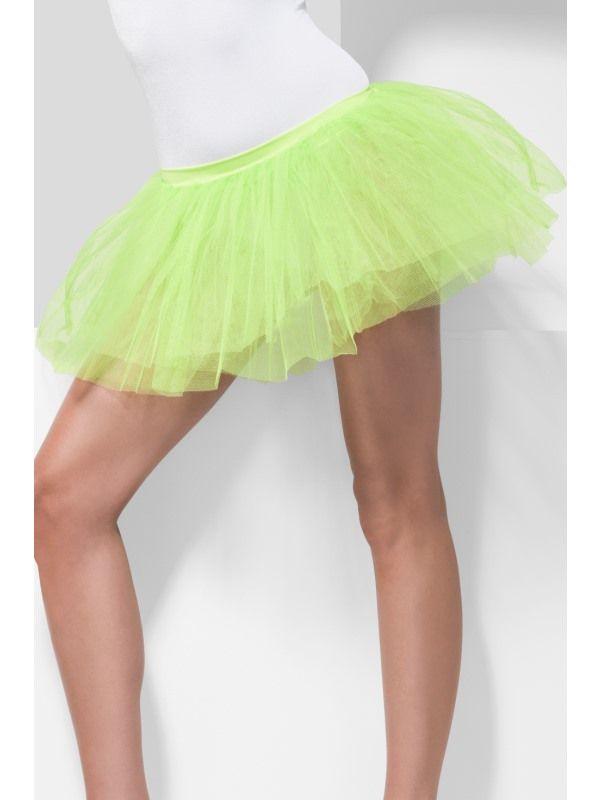 Spodnička - sukně neon zelená (55) Smiffys.com