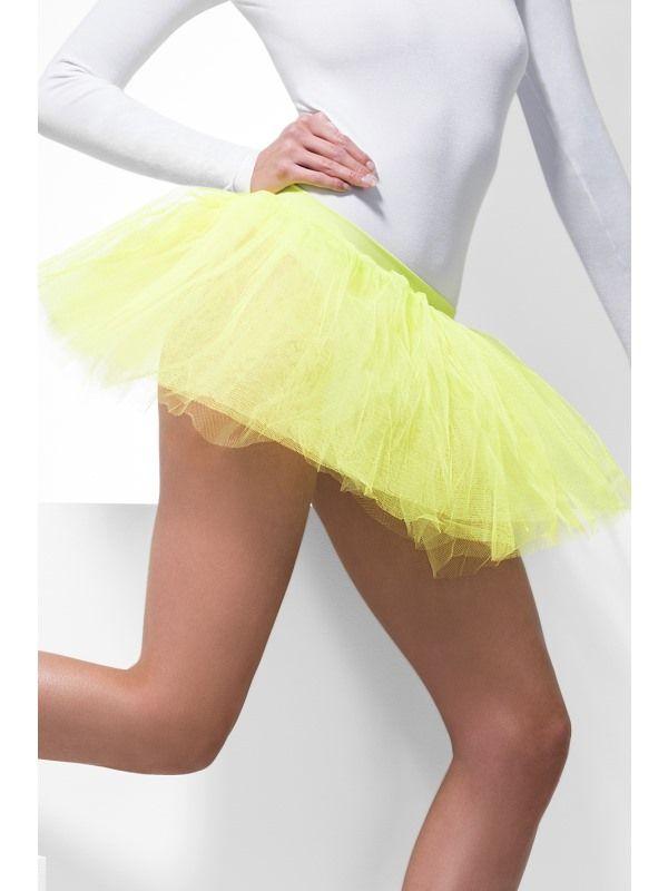 Spodnička - sukně neon žlutá (55) Smiffys.com