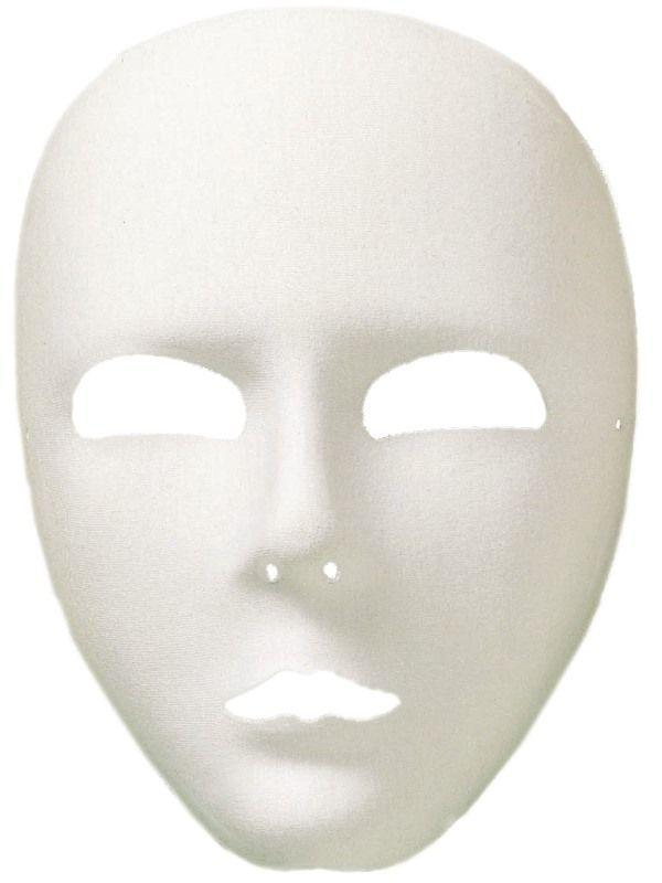 Maska bílá látková (16-H) Smiffys.com