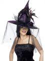 Klobouk čarodějnice fialový (123)