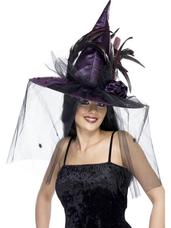 Klobouk čarodějnice fialový (122-A) Smiffys.com