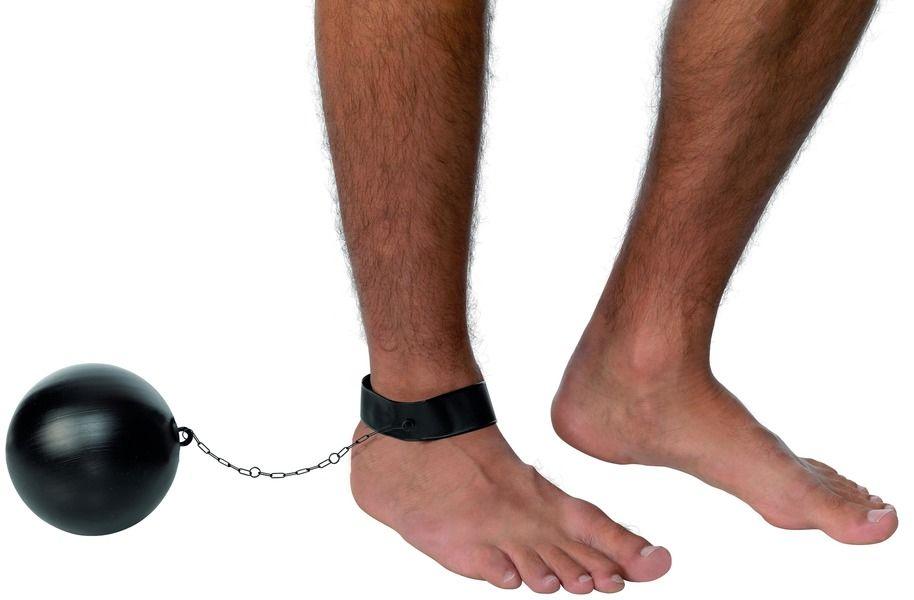 Koule na nohu plast ( 94) Smiffys.com