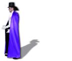 Plášť dlouhý černofialový Smiffys.com