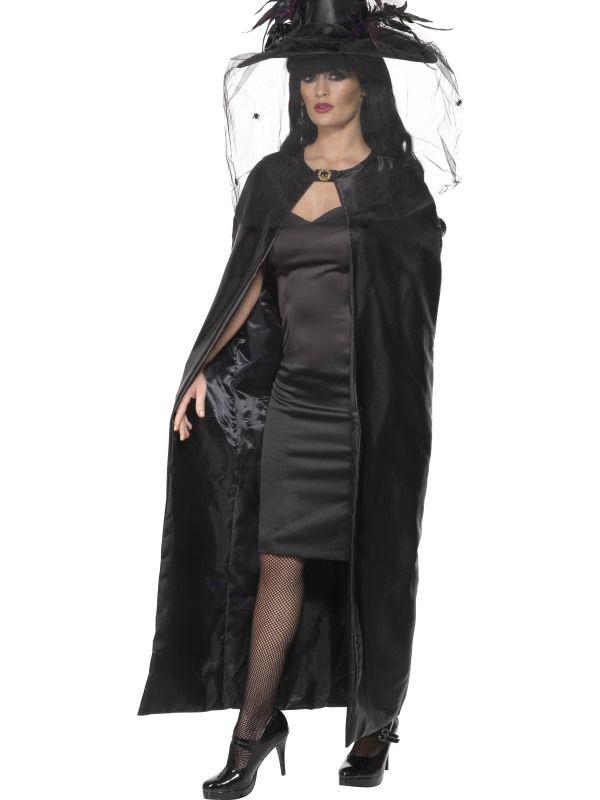 Plášť černý satén (84-D) Smiffys.com