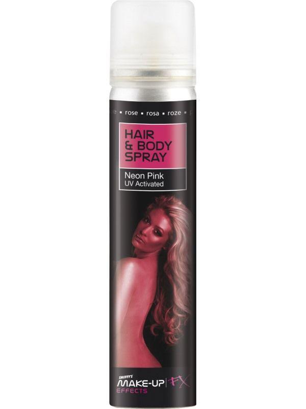 Barva na vlasy - UV a tělo růžový 75ml (13H) Smiffys.com