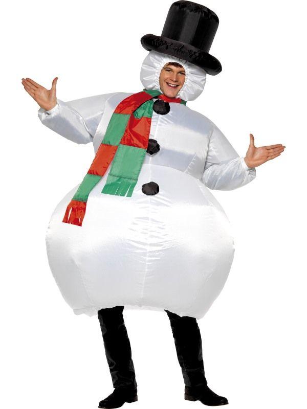 Kostým - Sněhulák nafukovací Smiffys.com
