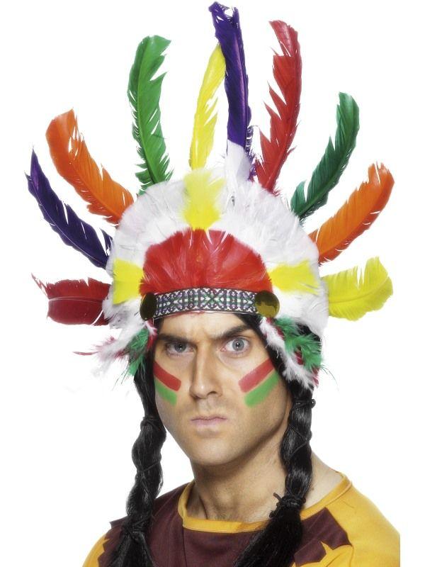 Čelenka indián barevná (62) Smiffys.com