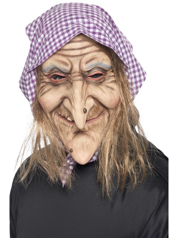 Maska - čarodějnice s šátkem (91) Smiffys.com