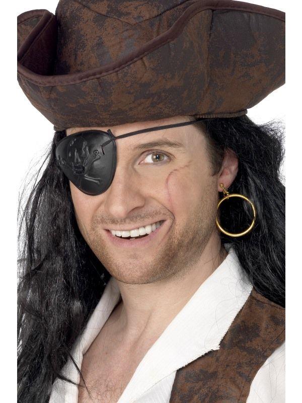 Klapka + naušnice pirátská (78-I) Smiffys.com