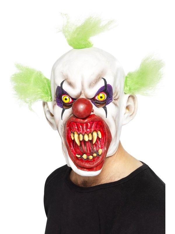 Maska klaun zelený (68) Smiffys.com