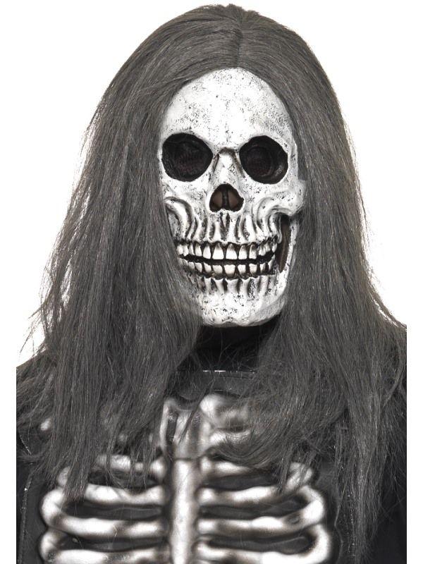 Maska lebka s vlasy Smiffys.com